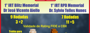 INSCREVA-SE: IRT BLITZ e RÁPIDO EM BAURU, 18 e 19/12!